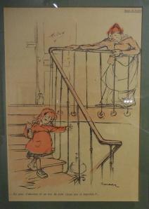 Auvers-sur-Oise: Musée de l'Absinthe: anti-absinthe drawing