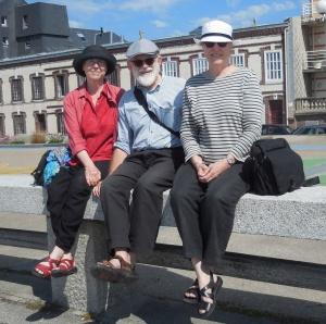 Normandie: Fécamp: Kathleen, Dick, Susan