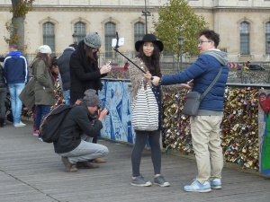 Pont des Arts: getting rid of the locks at last? selfie