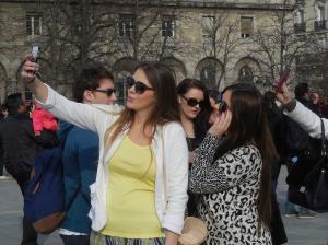 selfie parvue of Notre Dame de Paris