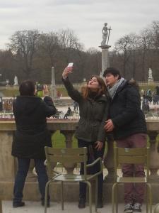 selfie Jardin du Luxembourg