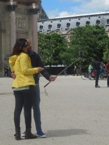 Jardin du Carrousel: selfie